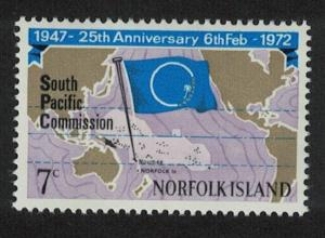 Norfolk 25th Anniversary of South Pacific Commission 1v SG#126 SC#149