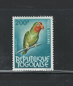REPUBLIQUE TOGOLAISE 1964 - 1965 BIRDS  #C38 EXTREMLY LIGHT HINGE MARK