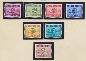 Guernsey Stamps Scott #J1 To J7, Mint Hinged - Free U.S. Shipping, Free World...