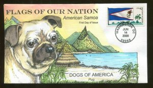 2008 Washington DC Flags of our Nation American Samoa Collins First Day Cover