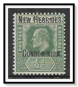 New Hebrides - British #10 King Edward VII MHR