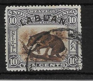 LABUAN SG115 1902 10c BROWN & SLATE-LILAC USED