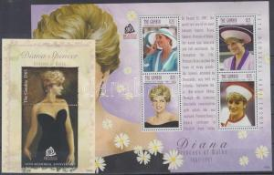 Gambia stamp Princess Diana minisheet + block MNH 2007 WS134959