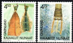 Greenland #384-5 MNH CV $3.50 (X1097)