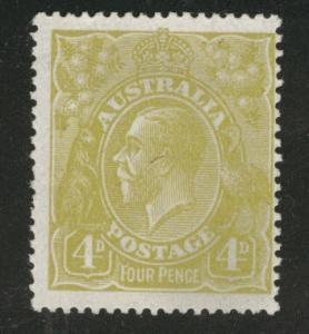 AUSTRALIA  Scott 34 KGV 1924 olive-bister CV$35 ...