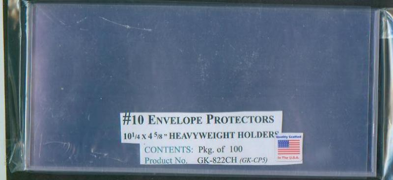 Cover Protectors #10 Business, 10 Lot, 01730