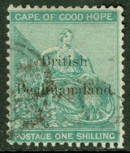 EDW1949SELL : BECHUANALAND 1886 Scott #9 VF Used. Fresh & Choice stamp. Cat $190