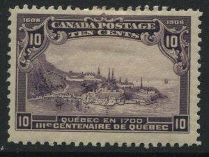 Canada 1908 10 cents Tercentenary mint o.g.