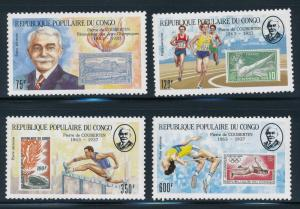 Congo - Coubertin - Olympic Games set MNH - 1987