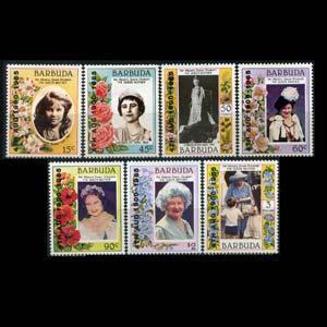 BARBUDA 1985 - Scott# 724-35 Queen Birthday Set of 7 NH
