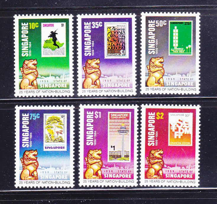 Singapore 442-447 Set MNH Stamps On Stamps
