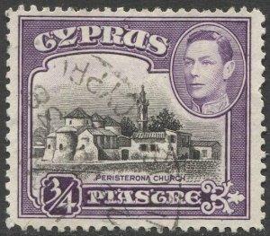 CYPRUS 1938 Sc 145 Used 3/4pi KGVI VF, Church