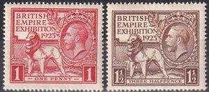 Great Britain #203-4  F-VF Unused CV $62.00  Z1029