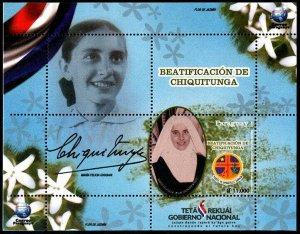 HERRICKSTAMP NEW ISSUES PARAGUAY Sc.# 3085 Beatification of Chiquitunga S/S