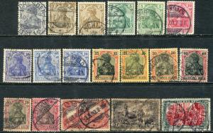 GR Lot 10486 Deutsch Reich  1902 Michel 68-77 78B 80Aa 81Ab Freimarken Germania