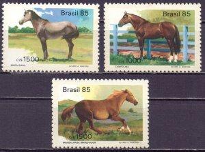 Brazil. 1985. 2097-09. Horses. MNH.