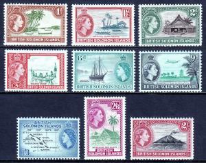 SOLOMON ISLANDS — SCOTT 113-125 — 1963-64 QEII SET WMK. 314 — MNH — SCV $27.85
