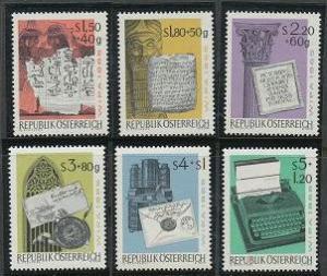 Austria B315-B320 MNH (1965)
