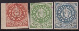 ARGENTINA 3 old forgeries of this classic issue.............................5415