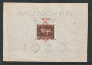 Germany a used gold ribbon mini sheet from 1937
