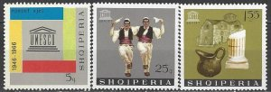 Albania  974, 976-7  MNH  UNESCO 20th Anniversary
