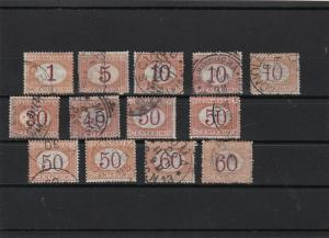 italy postage due 1870 used stamps ref r10250