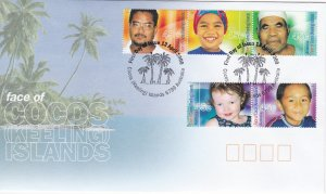 Cocos Islands # 332, Faces of Cocos Islanders, First Day Covers