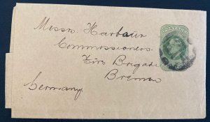 1900s England Wrapper Postal Stationery Cover  To Bremen Germany