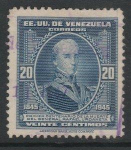 Venezuela 1946 20c used South America A4P53F33