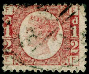 SG48, ½d rose-red PLATE 14, USED. Cat £22. EF