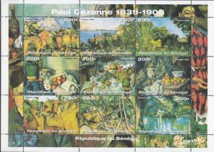 Senegal - 1999 Paintings of P. Cezanne Sc# 1414 - MNH (782N)
