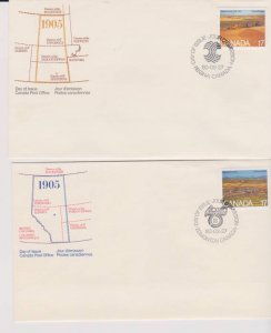 CANADA FDC FROM CANADA POST OFFICE STAMPS #863-864 LOT#M146