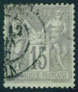 FRANCE Scott 69 Used  type 1 few short perfsl CV >16$