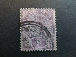 A4P20F4 Jamaica 1889-91 Wmk Crown CA 1d used