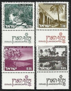 1973 Israel 598x-601x LANDSCAPES OF ISRAEL 5,00 €
