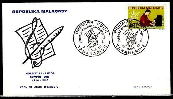 Malagasy, Scott cat. 399. Composer issue on a First day cover.