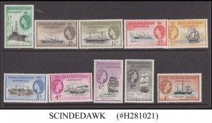 FALKLAND ISLANDS DEPENDENCIES 1954 QEII SHIPS SCOTT#1L19-1L28 - 10V MINT NH