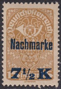 Austria J102 Post Horn O/P 1921
