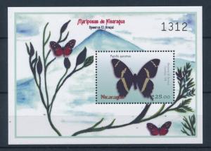 [37967] Nicaragua 2000 Butterflies Schmetterlingen Papillons  MNH Sheet