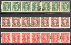 Canada #238 to 240 VF-XF NH Strip of 7 C$252.00