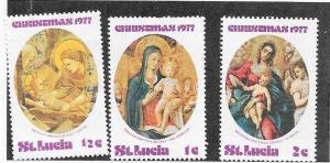 St Lucia #427-29 Christmas 1977' (MLH) CV$0.75