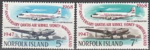 Norfolk Island #119-20 F-VF Unused