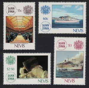 Nevis 300th Anniversary of Lloyd's of London 4v 1988 MNH SG#508-511