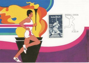 US - 1984 OLYMPIC GAMES - BASEBALL STATION  FDC7718