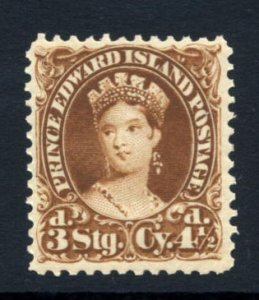 PRINCE EDWARD ISL: Sc.#10i  **  4 1/2d. Yellow Brown, EXCEPTIONAL example Nev...