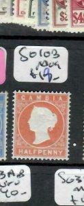 GAMBIA  (P2308BB) QV  1/2D  SG 10B    MOG