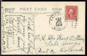 USA 1916 FAIRPLAY to LAKE GEORGE DPO Colorado Cover Postcard 94219