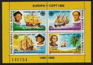Romania Christopher Columbus Discovery of America Europa CEPT MS SG#MS5438