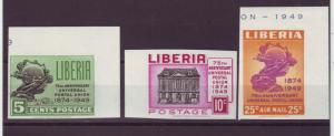J16902 JLstamps 1950 liberia set mnh #330-1,c67 imperfs upu