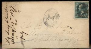 Virginia 1877 Shenandoah Iron Works VA Cancel DPO Helbock R6 Cover 92342